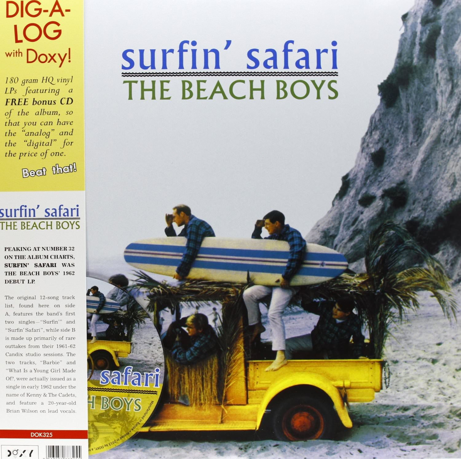 Surfin' Safari Dig-A-Log Vinyl+CD cover