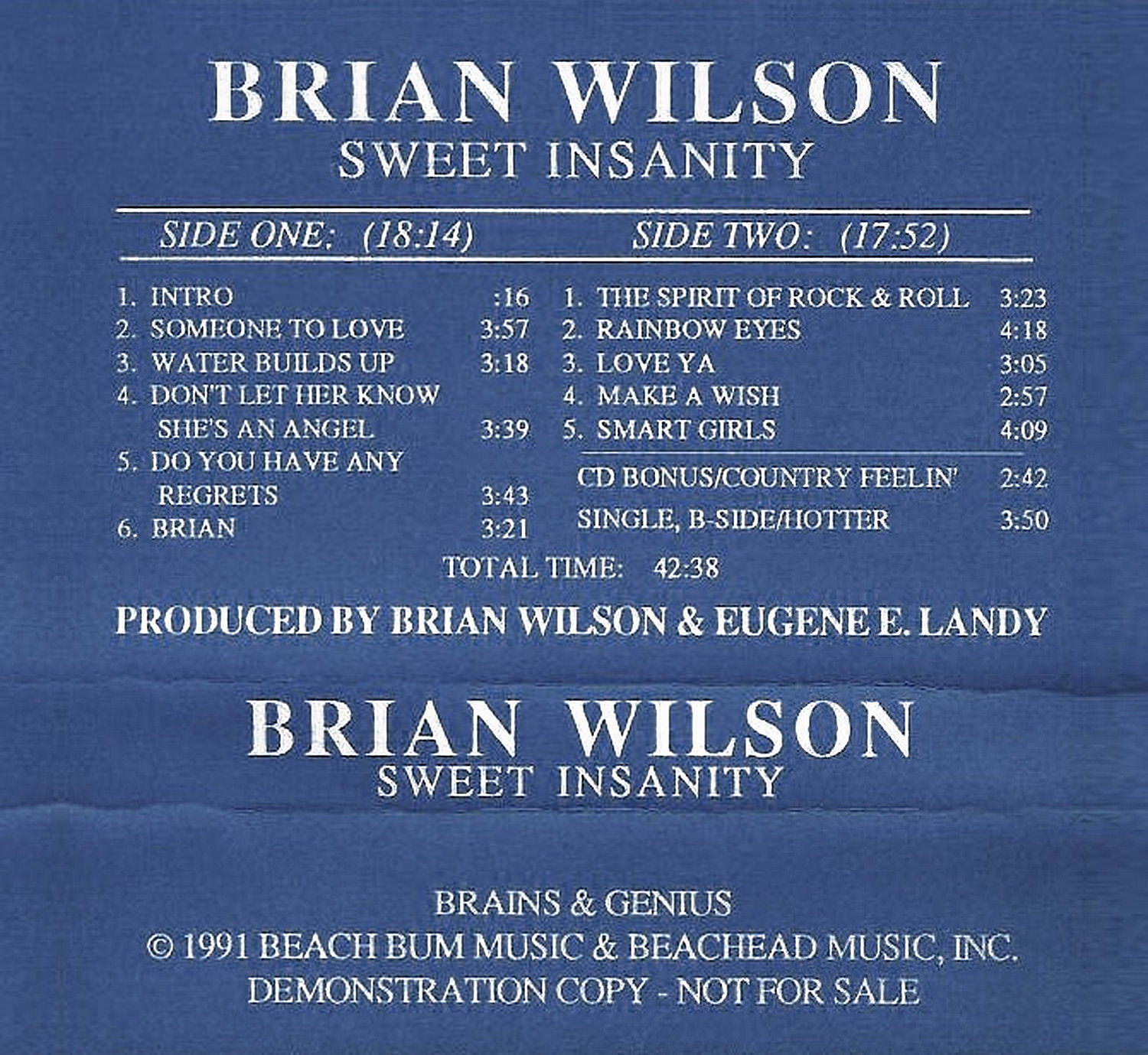 Sweet Insanity cover
