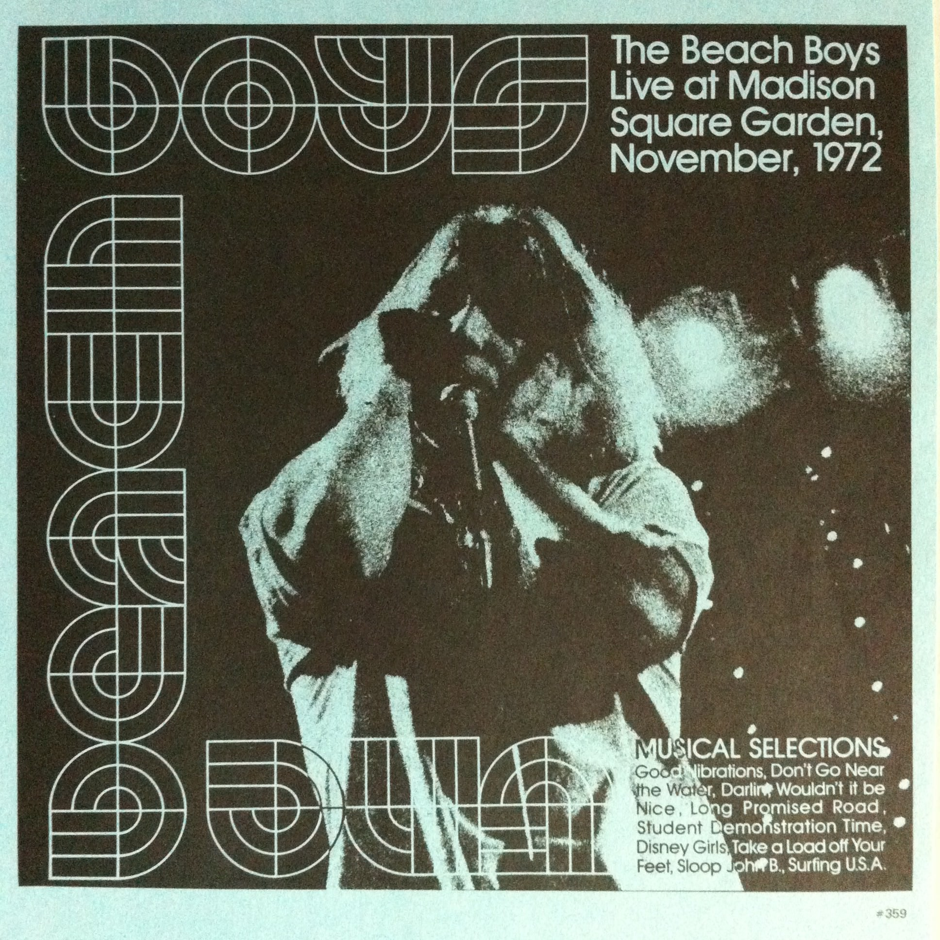 Live At Madison Square Garden, November 1972 cover