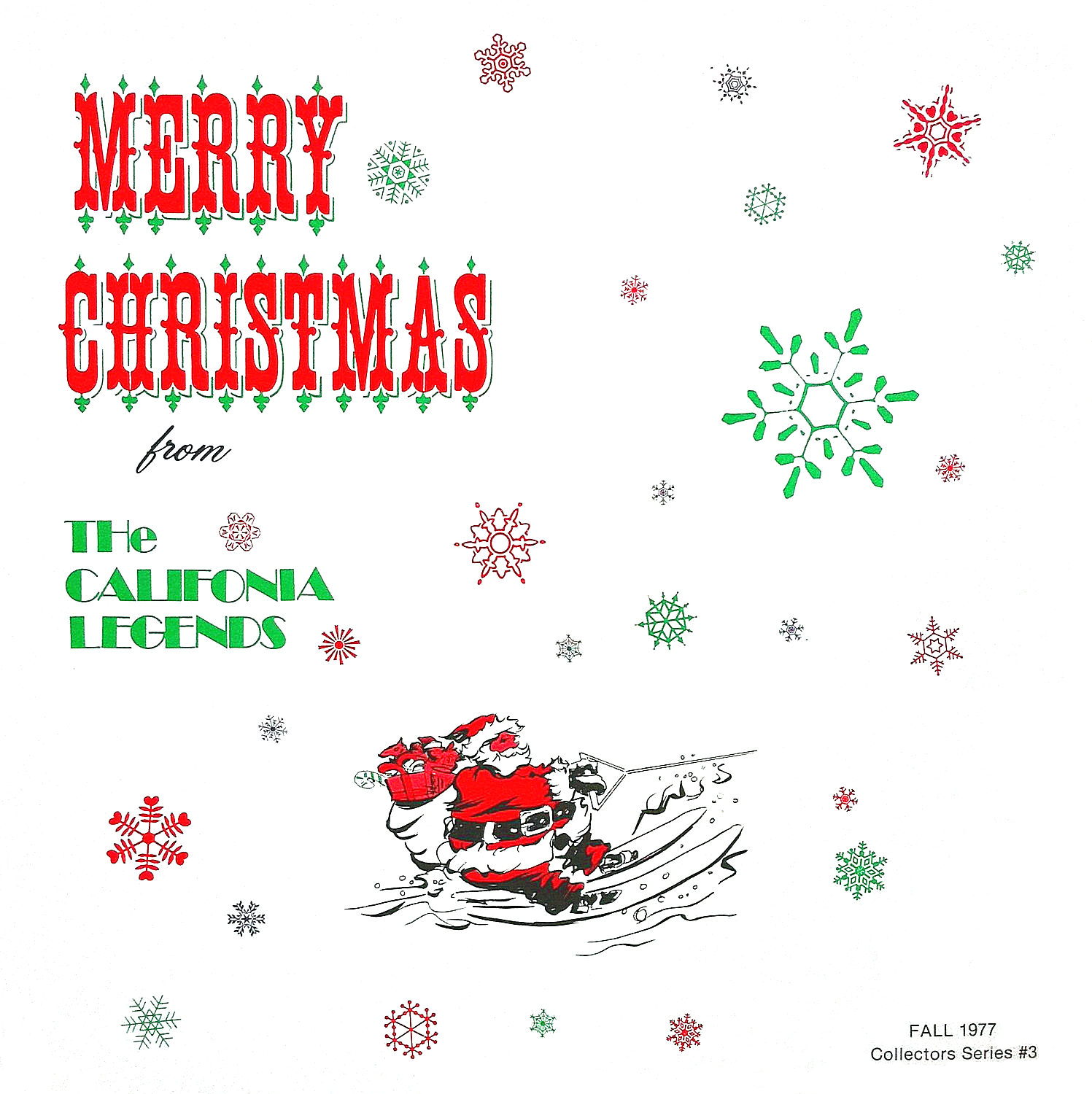 Merry Christmas From The California Legends cover