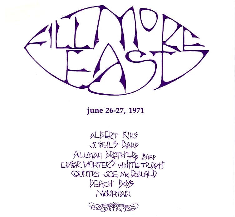 Fillmore East - June 26-27, 1971 cover