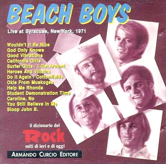 Live At Syracuse, New York, 1971 cover