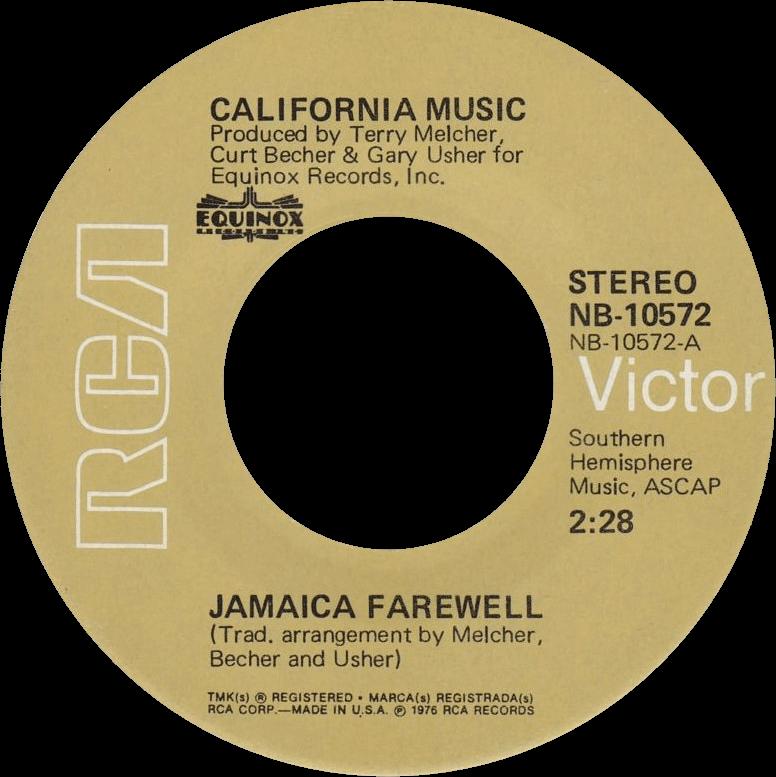 Jamaica Farewell cover