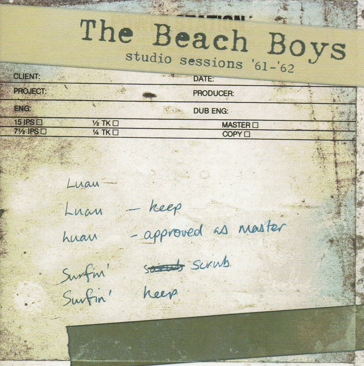 Studio Sessions 1961-1962 cover