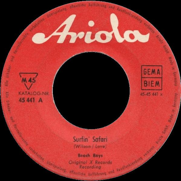 Surfin' Safari cover