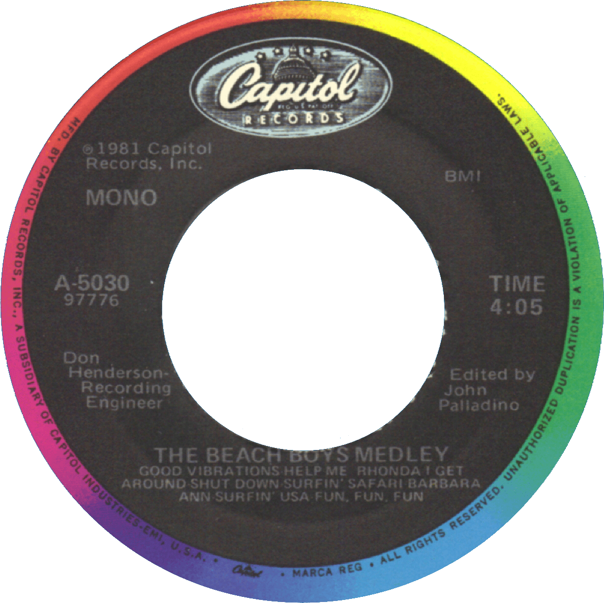 The Beach Boys Medley cover